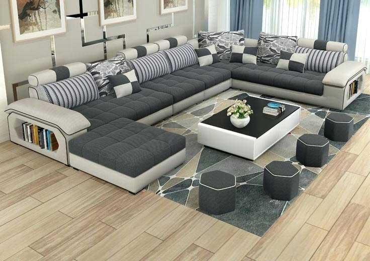 High Quality Modern Corner Sofa Sets Latest Living Room Furniture Design Catalogue 2019
