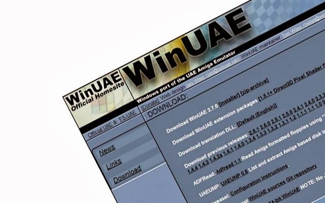 Open WINUAE webpage.