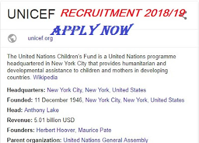 UNICEF Nigeria Recruitment 2018/2019 | Vacancy Available