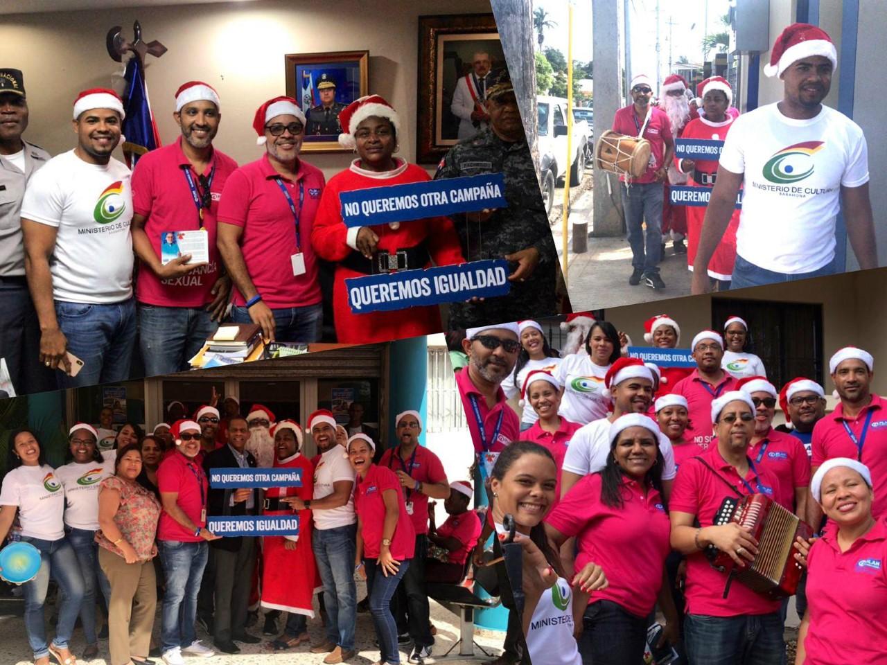 Entre música y alegría, Plan Internacional y el Ministerio de Cultura en Barahona realizan asalto navideño