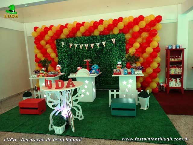 Decoração Turma da Mônica - Mesa decorativa provençal para festa de aniversário