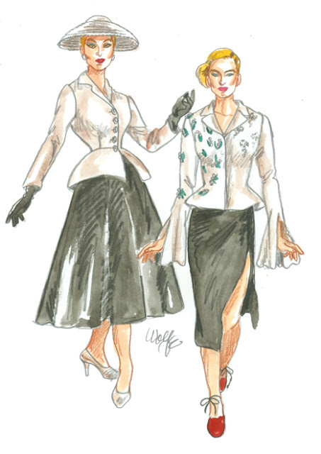 Chanel Fashion Sketch by David Wolfe