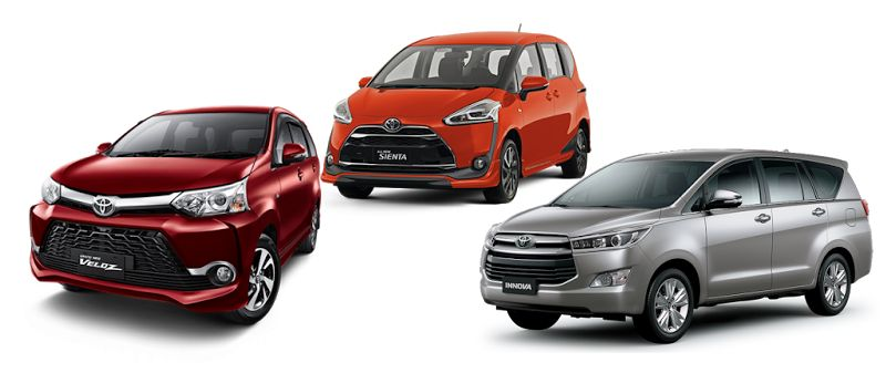 Sewa Mobil Keluarga di Padang ( Avanza Veloz, Innova Reborn, New Sienta )