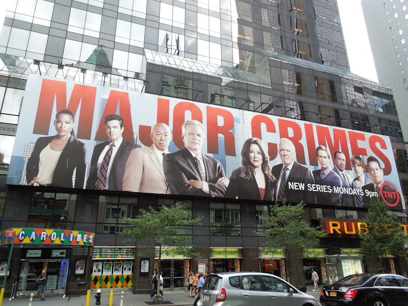 Major Crimes season 1 billboard NYC