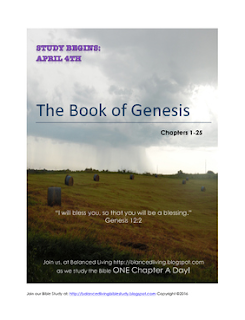 Balanced Living Bible Study: Book of Genesis (Chapters 1-25