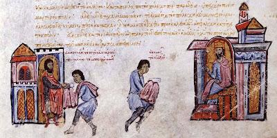μικρογραφία από το χειρόγραφο της Μαδρίτης με την Σύνοψη Ιστοριών του Ιωάννου Σκυλίτζη