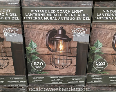 Costco 1015194 - Add some light to brighten the outside of your home with the Manor House Vintage LED Coach Light