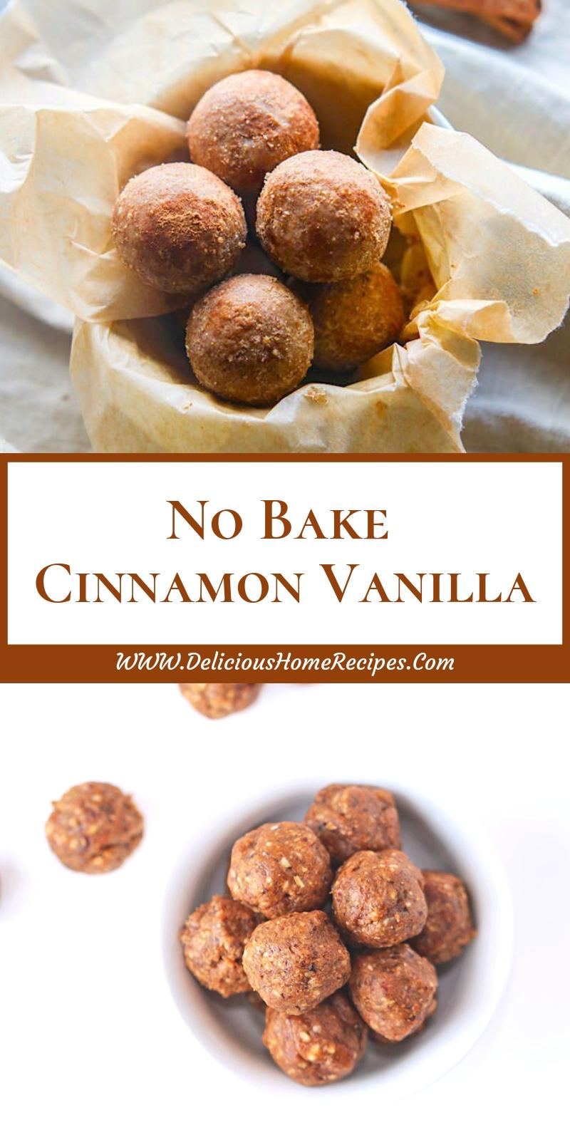 No Bake Cinnamon Vanilla