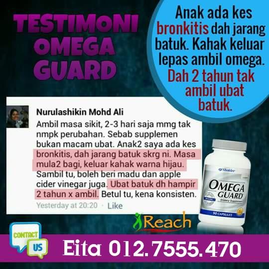 Ubat batuk omega guard