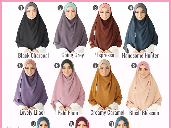 Tudung Labuh Instant Nayla 2.0 by ESCARVES