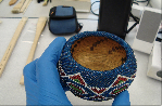 Conservation of objects, antiques baskets, Native American baskets