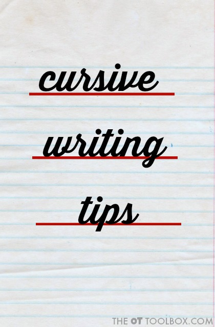 Use these tips to help kids learn to write in cursive handwriting.