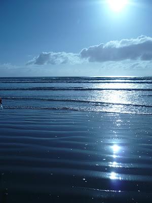 more v Škótsku s odrazom slnka