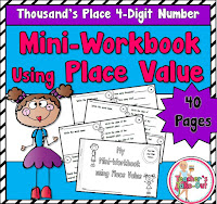Mini Workbook using 4 Digit Numbers