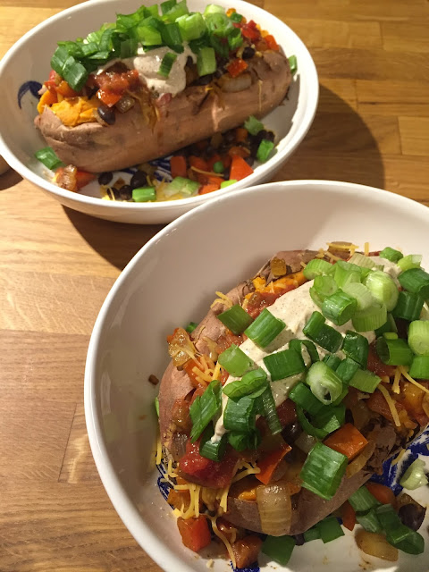Loaded Vegetarian Sweet Potato | Hard Parade Blog