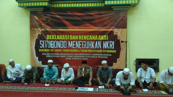 TNI, Polri, Ormas Islam, Tokoh Agama, Akademisi dan Pesantren se Situbondo Nyatakan Tolak HTI