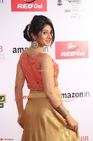 Harshika Ponnacha in orange blouuse brown skirt at Mirchi Music Awards South 2017 ~  Exclusive Celebrities Galleries 016.JPG