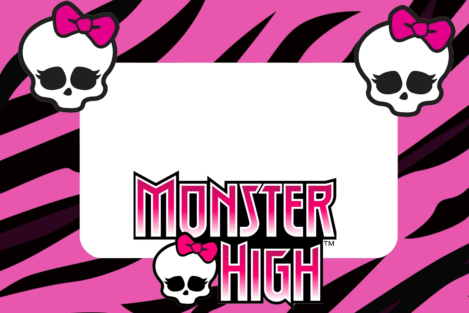 This is a photo of Effortless Free Printable Monster High Invitations
