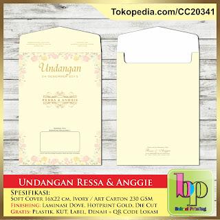Undangan Pernikahan Vintage Ressa & Anggie, Kotabumi Lampung