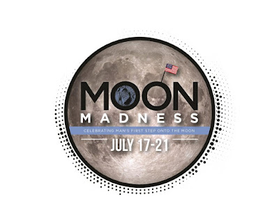 Photo of moon with words Moon Madness and July 17-21