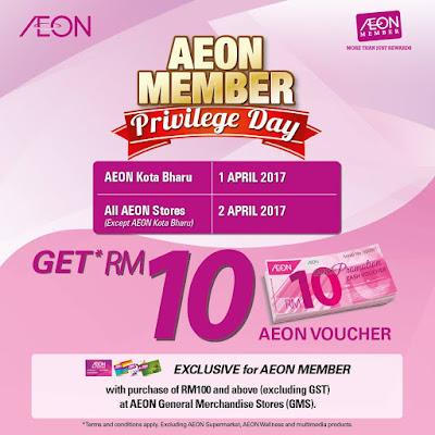 AEON Member Privilege Day Free Cash Voucher
