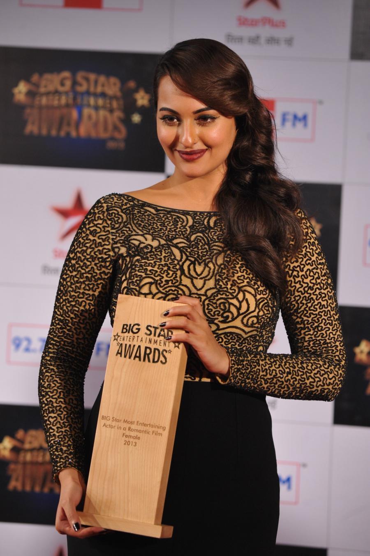 Glamorous Sonakshi Sinha Stills In Black Dress