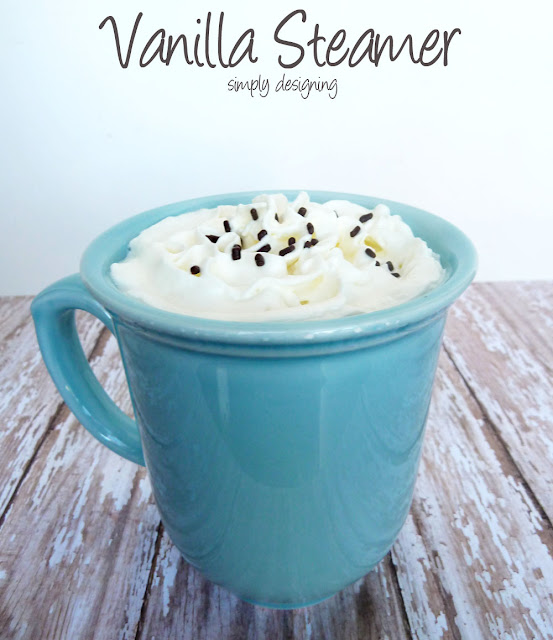 Vanilla Steamer | perfect cold weather drink to share with family and friends | #drinks #recipe #mykindofholiday #spon
