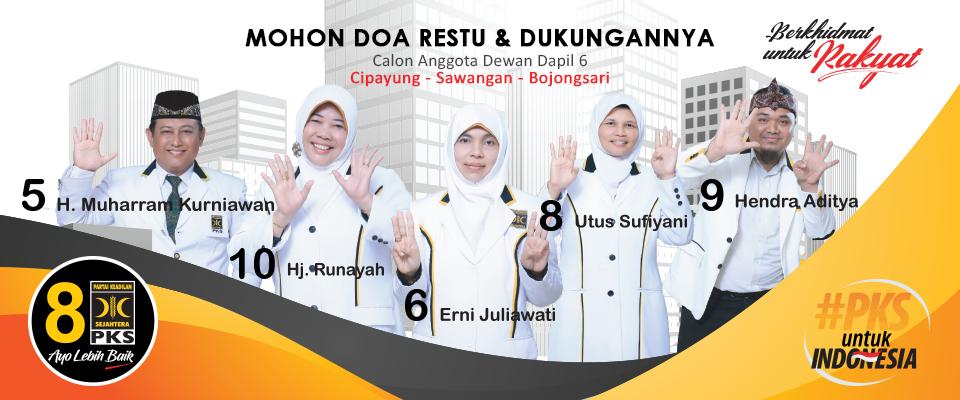 Calon Anggota Dewan PKS Cipayung - Sawangan - Bojongsari