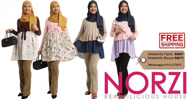 Maternity blouse , nursing blouse , maternity long pants, maternity blouse baju mengandung online murah cantik office