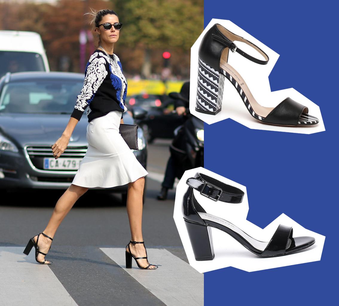 sandali neri laccio caviglia