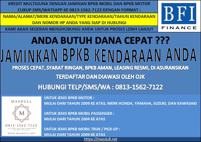 MASDULL - Kredit multiguna jaminan BPKB Mobil dan BPKB Motor Jakarta Timur