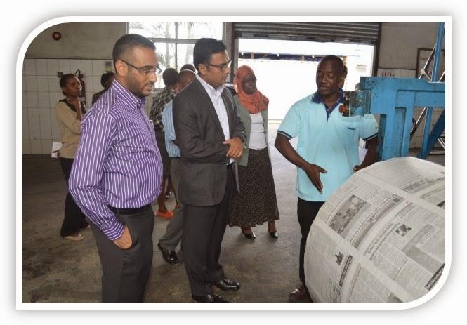 Zanzinews Zantel Ceo Vists Tanzania Standard Newspaper