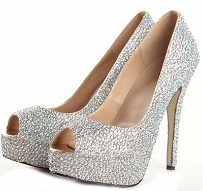 Customized Wells Charming Sheepskin Upper Stiletto Heel Peep-toe Prom Shoes