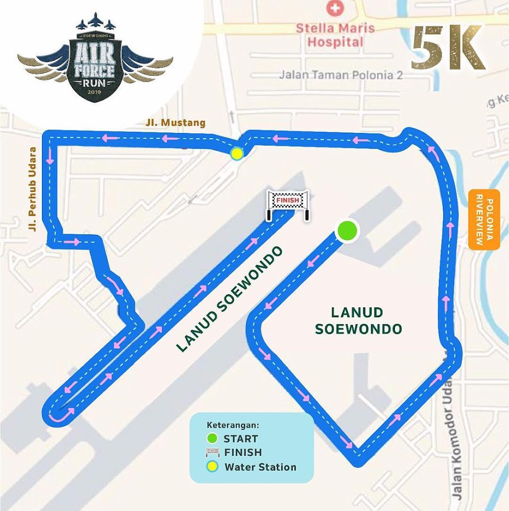 Air Force Run - Medan • 2019 Rute 5K