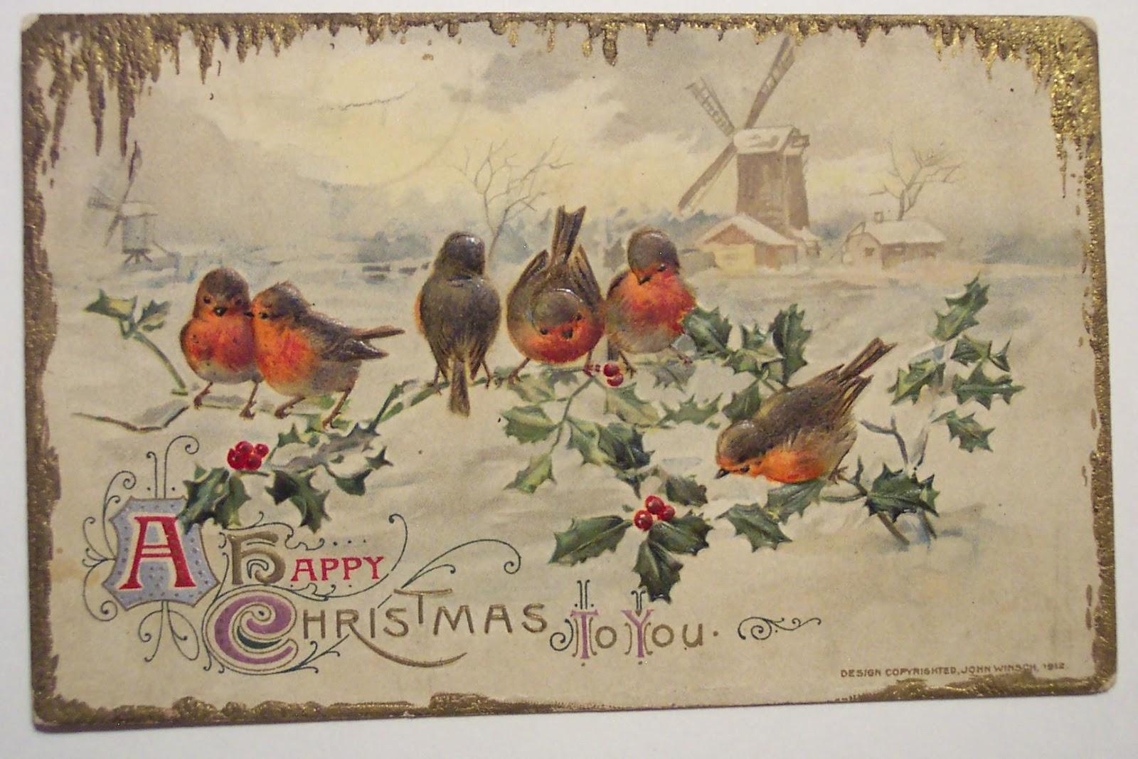 Старинная английская открытка