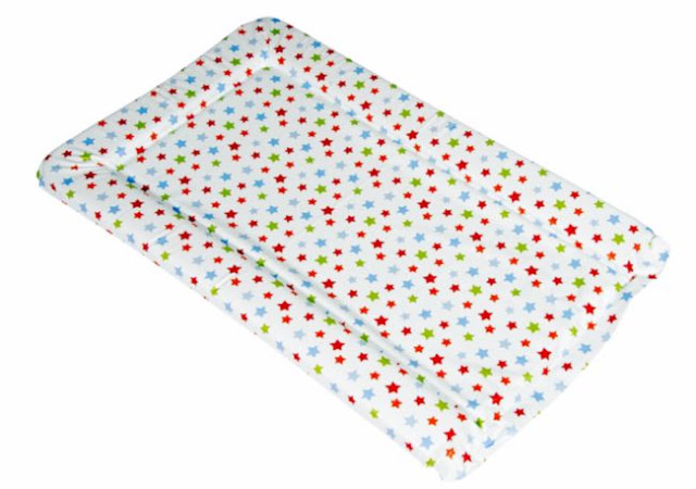 change mat with different coloured stars pattern