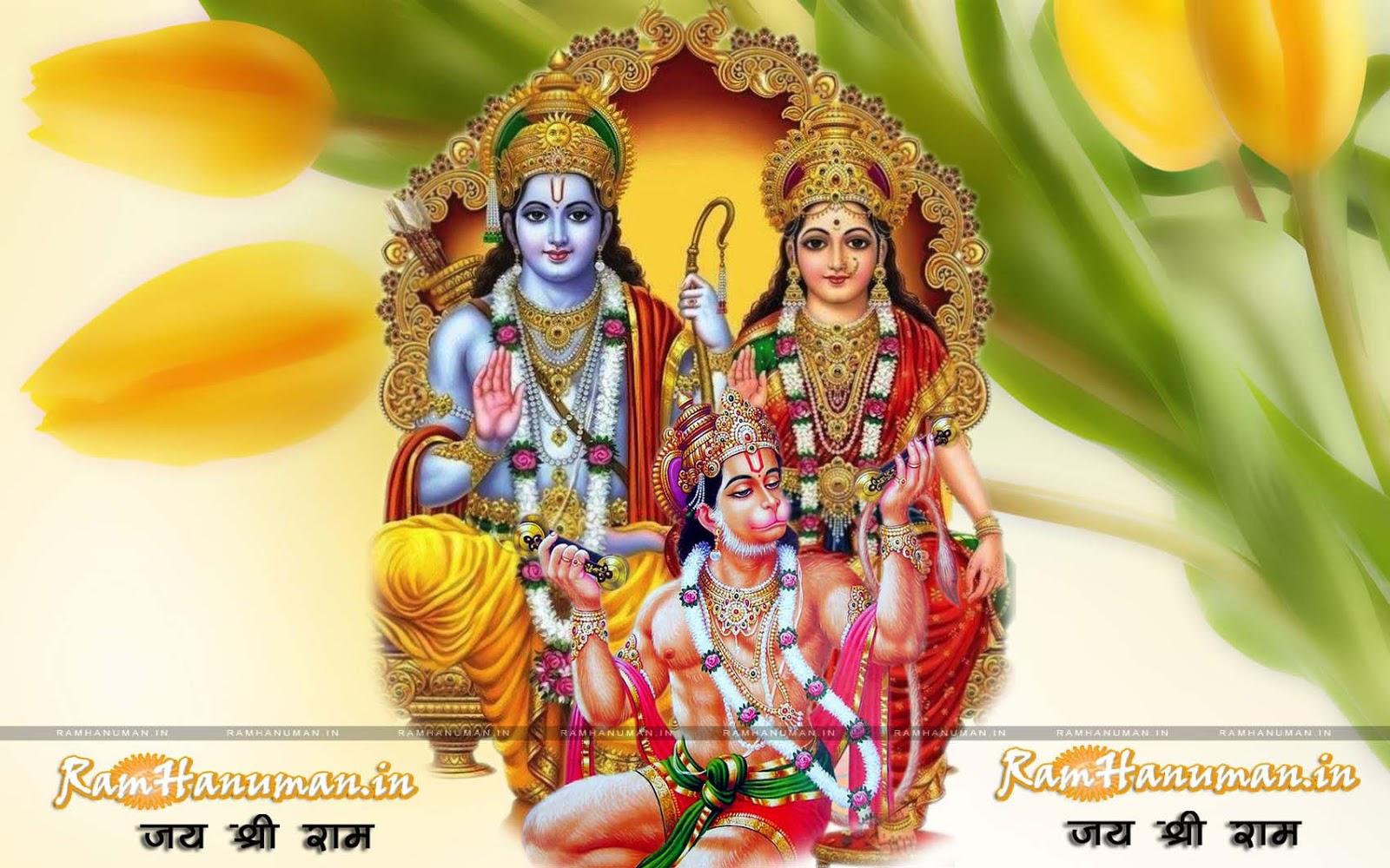 Hd wallpaper ram - 4 Lord Ram Sita With Bhakt Hanuman Ji Background Full Hd Wallpaper