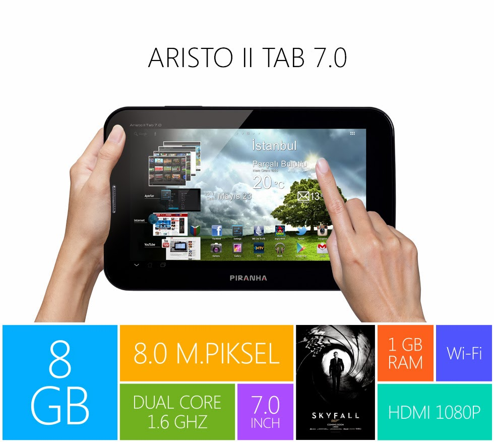 Piranha Aristo II Android Tablet