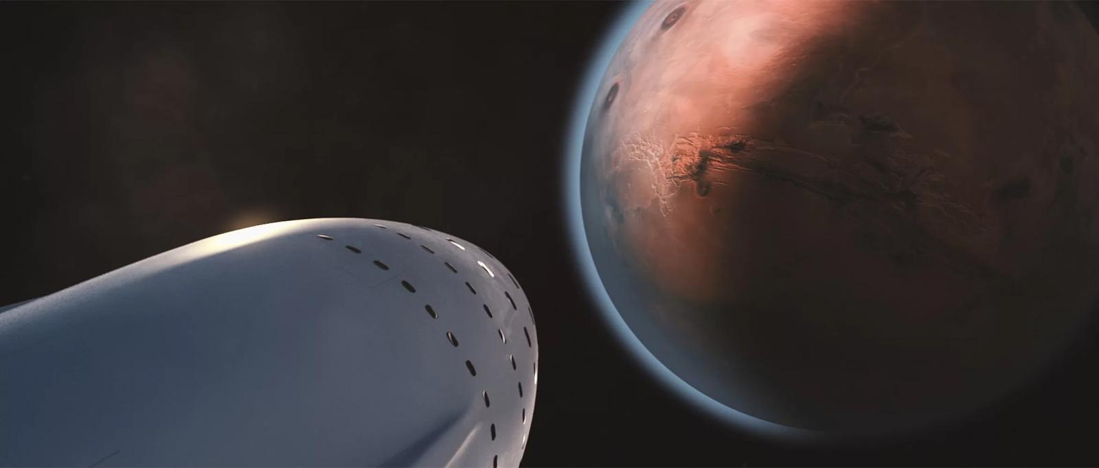 Montagem aparentemente real de Marte
