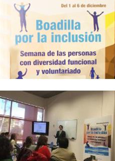 Charla impartida por uno de los Socios Directores de Cuevas y Montoto Consultores dentro de la Semana por la Inclusión organizada por el Ayuntamiento de Boadilla del Monte (Madrid).