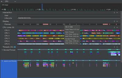 The improved UI of the CPU Profiler