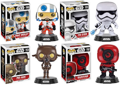 Star Wars: The Force Awakens Pop! Series 3 by Funko - Snap Wexley, FN-2199, ME-809 & a Guavian
