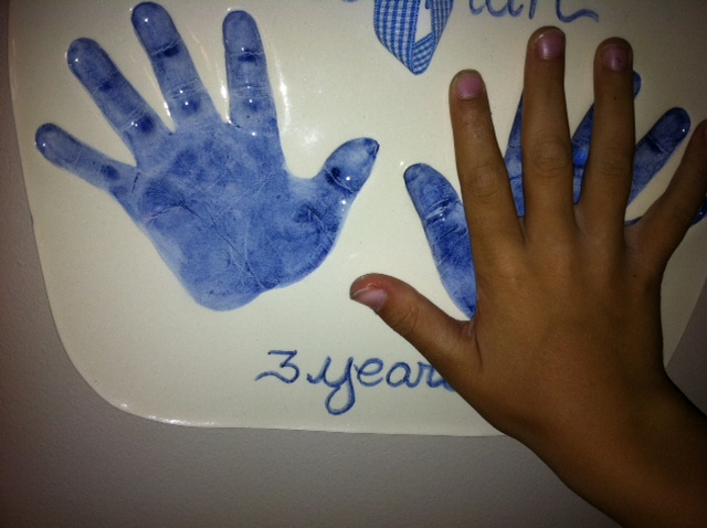 ceramic handprints in memphis remember them little
