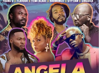 Harmonize - Angela ft  Mr flavour , Yemi Alade & Young D