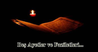 bes ayetler ve faziletleri