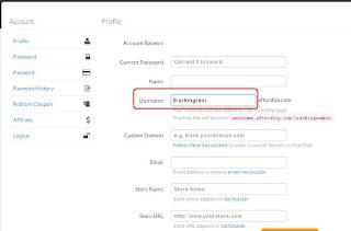 setting username aftership