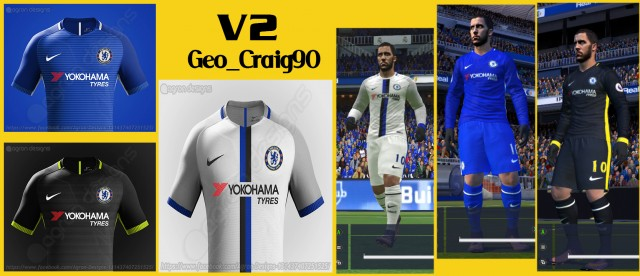 PES 2017 and PES 2016 Chelsea Nike Kits (With 2 Versions)
