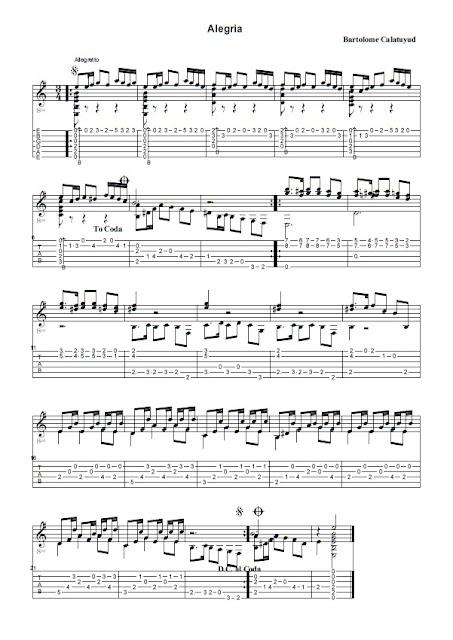 Partitura Guitarra Bartolome Calatuyud