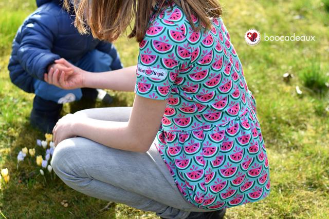 Shirt mit Schösschen aus Melontropic von Hamburger Liebe