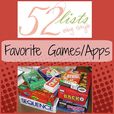 52 Lists - Favorite Games/Apps on Homeschool Coffee Break @ kympossibleblog.blogspot.com